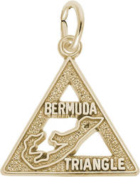 Bermuda Triangle Charm (Choose Metal) by Rembrandt