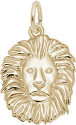 Lion Head Charm (Choose Metal) by Rembrandt