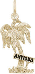 Antigua Palm Tree Charm (Choose Metal) by Rembrandt