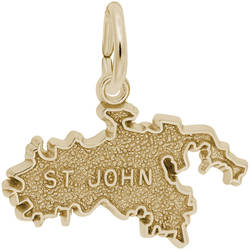 St. John Map Charm (Choose Metal) by Rembrandt
