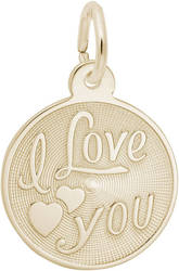 I Love You Medallion Charm (Choose Metal) by Rembrandt