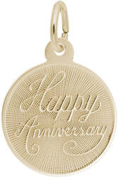 Small Happy Anniversary Charm (Choose Metal) by Rembrandt