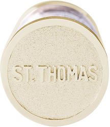 St. Thomas Sand Capsule Charm (Choose Metal) by Rembrandt