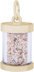 Curacao Sand Capsule Charm (Choose Metal) by Rembrandt