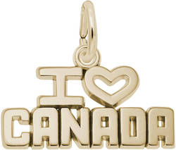 I Love Canada Charm (Choose Metal) by Rembrandt