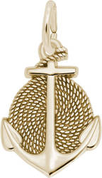 Rope Circle Anchor Charm (Choose Metal) by Rembrandt