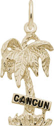Cancun Palm Tree Charm (Choose Metal) by Rembrandt