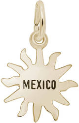 Mexico Sun Small Charm (Choose Metal) by Rembrandt