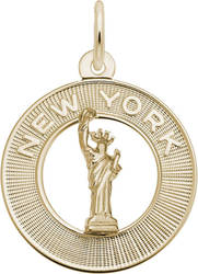 New York Statue Of Liberty Ring Charm (Choose Metal) by Rembrandt