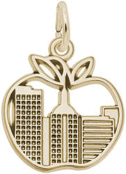 New York Skyline Charm (Choose Metal) by Rembrandt
