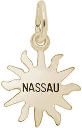 Nassau Sun Small Charm (Choose Metal) by Rembrandt