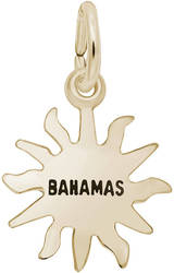 Bahamas Sun Small Charm (Choose Metal) by Rembrandt