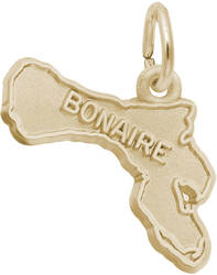 Bonaire Map Charm (Choose Metal) by Rembrandt