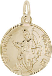 St. Florian Charm (Choose Metal) by Rembrandt
