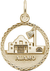 The Alamo Faceted Charm (Choose Metal) by Rembrandt