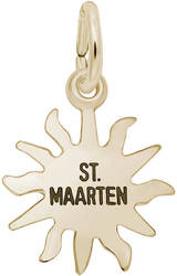 St. Maarten Sun Small Charm (Choose Metal) by Rembrandt