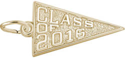 Class Of 2016 Charm (Choose Metal) by Rembrandt