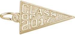 Class Of 2017 Charm (Choose Metal) by Rembrandt