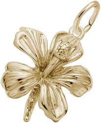 Hibiscus Flower Charm (Choose Metal) by Rembrandt