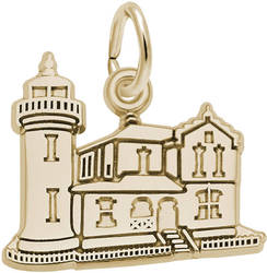 Admiralty Head, WA Lighthouse Charm (Choose Metal) by Rembrandt