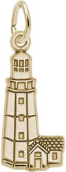 Montauk Point, NY Lighthouse Charm (Choose Metal) by Rembrandt