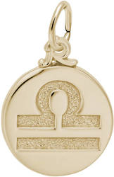 Libra Symbol Of The Sky Charm (Choose Metal) by Rembrandt