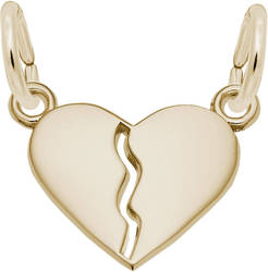 Small Brake Apart Heart Charm (Choose Metal) by Rembrandt