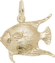 Angelfish Charm (Choose Metal) by Rembrandt
