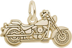 Flat Motorcycle Charm (Choose Metal) by Rembrandt