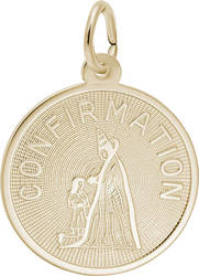 Round Confirmation Charm (Choose Metal) by Rembrandt