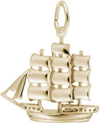 Full-Rigged Ship Charm (Choose Metal) by Rembrandt