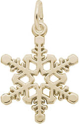 Snowflake Charm (Choose Metal) by Rembrandt