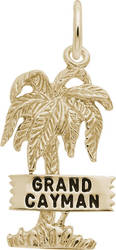 Grand Cayman Palm Tree Charm (Choose Metal) by Rembrandt