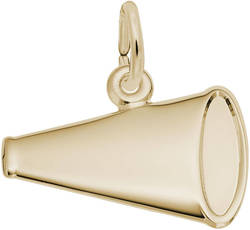 Flat Megaphone Charm (Choose Metal) by Rembrandt
