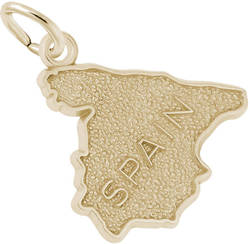 Spain Map Charm (Choose Metal) by Rembrandt
