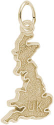 United Kingdom Map Charm (Choose Metal) by Rembrandt