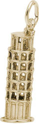 Leaning Tower Of Pisa Charm (Choose Metal) by Rembrandt