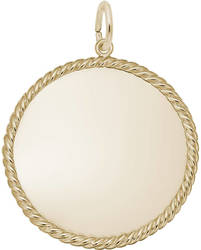 Extra Large Rope Charm (Choose Metal) by Rembrandt