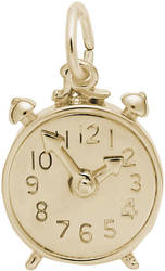 Alarm Clock Charm (Choose Metal) by Rembrandt