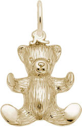Hugging Teddy Bear Charm (Choose Metal) by Rembrandt