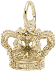 Ornate Royal Crown Charm (Choose Metal) by Rembrandt