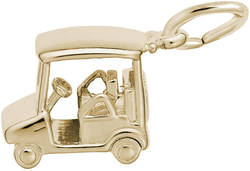 Golf Cart Charm (Choose Metal) by Rembrandt