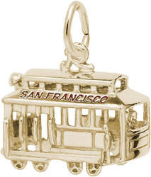 San Francisco Cable Car Charm (Choose Metal) by Rembrandt