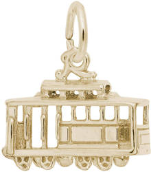 Detailed Cutout Cable Car Charm (Choose Metal) by Rembrandt