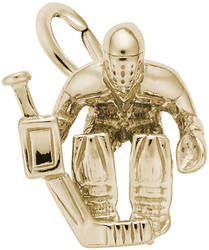 Hockey Goalie Charm (Choose Metal) by Rembrandt