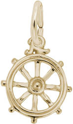 Ships Wheel Charm (Choose Metal) by Rembrandt