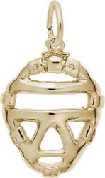 Catchers Mask Charm (Choose Metal) by Rembrandt