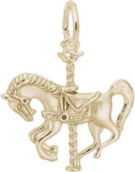 Carousel Horse Charm (Choose Metal) by Rembrandt