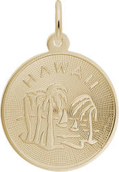 Classy Hawaii Palm Tree Charm (Choose Metal) by Rembrandt