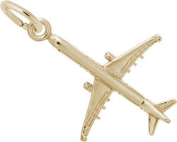 Airplane Charm (Choose Metal) by Rembrandt